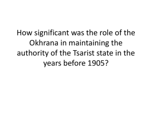 How significant was the role of the Okhrana in