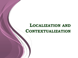 Localization and Contextualization - e-turo