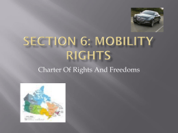 Charter - Mobility Rights - Thames Valley District School Board