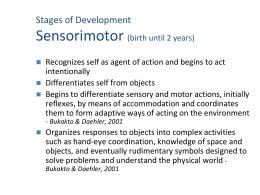 Sensorimotor Stage of Development