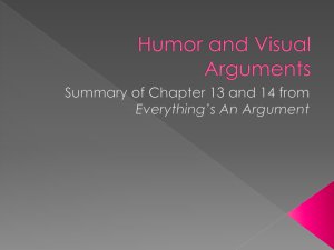 Humor and Visual Arguments