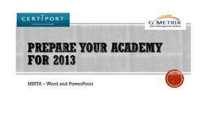 Prepare Your Academy for 2013