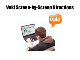 Voki screen by screen directions