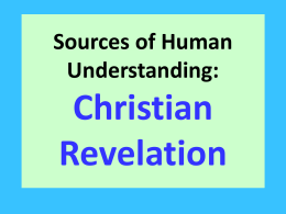 Revelation As a source of Human Understanding lesson