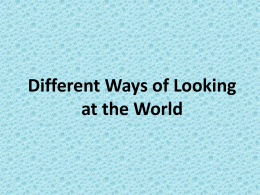Different Ways of Looking at the World Grouping Countries