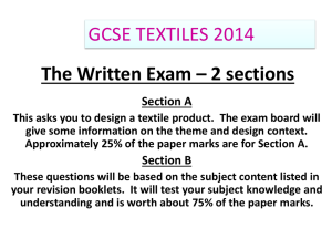 2014 GCSE Textiles Technology examination – Fairground