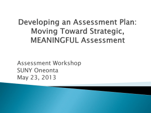 Strategic, Meaningful Assessment, 05/13
