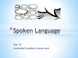Spoken Language GCSE