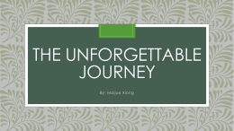 The Unforgettable Journey - The FANTABULOUS Mrs. Janes