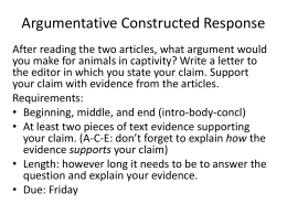 Counterargument Sentence Starters Argumentative Constructed Response Zoos Th Grade Business Essay Format also Writing Help Center  Academic Writing Assistance Agency