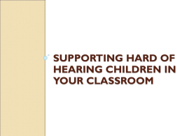 Understanding how to Help Children with Hearing Loss - Hitch