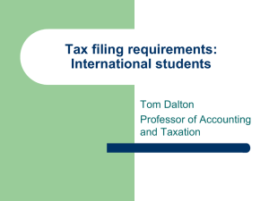 Tax filing requirements - University of San Diego