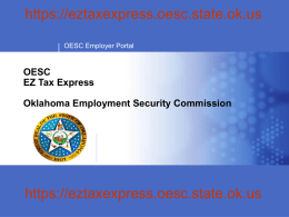 OESC EZ Tax Express Oklahoma Employment Security Commission
