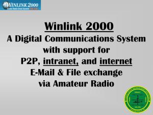 Winlink 2000 Presentation