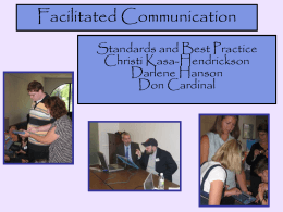 on Best Practices in Facilitated Communication