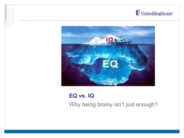 EQ vs. IQ PowerPoint
