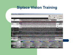 Siplace Vision Training1