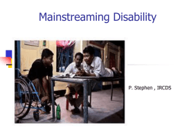 8.Mainstreaming Disability