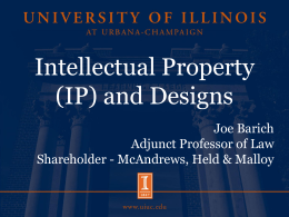 Intellectual Property (IP) and Designs
