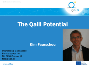 QALLL Potential, Kim Farschou, International Science