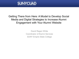Getting There from Here: A Model to Develop Social Media and
