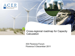 Cross-regional roadmap on Capacity Calculation
