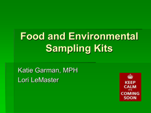 Food and Environmental Sampling Kits