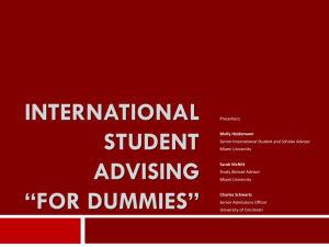 International Student Advising For Dummies