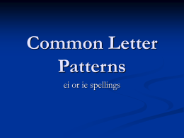 Lesson_9_Common_Spellings_ie_or_ei_spellings