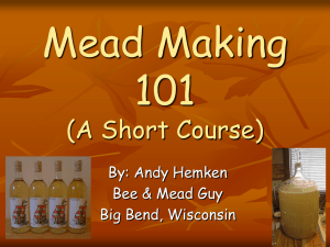 Mead Making 101 - Iowa Honey Producers Association