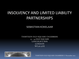 20130312_LLP_Insolvency - Thirteen Old Square Chambers