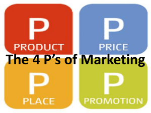 1. The 4 P`s of Marketing
