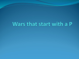 Wars that start with a P