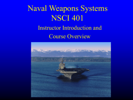Naval Weapons Systems N205
