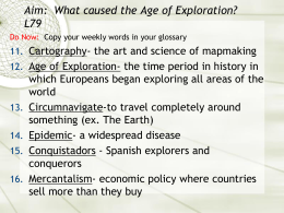 FQ: What caused the Age of Exploration? (L18Exploration)