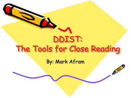 DIDLS: The Tools for Close Reading
