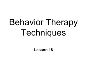 Behavior Therapy Tecniques