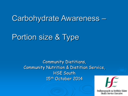 Workshop 5 Carbohydrate Awareness