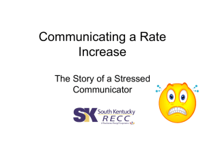 Communicating a Rate Increase