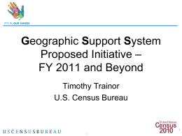 Geographic Support System Initiative