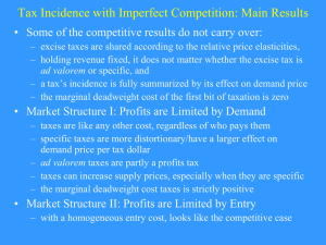 Tax Incidence with Imperfect Competition