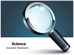 Science Essential Standards