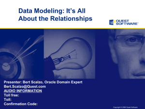 Data Modeling - Its All ABout the Relationships