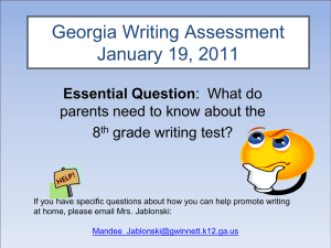 Georgia Writing Assessment Rubric
