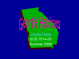 Georgia Regions and Habitats Study Guide Georgia Habitats
