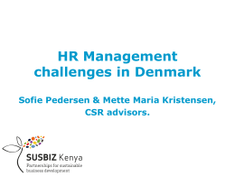 HR Management challenges in Denmark