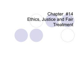 Chapter 14 HR Ethics - UCO College of Business