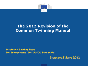 The 2012 Revision of the Common Twinning Manual
