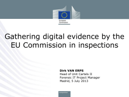 Gathering digital evidence by the EU Commission in inspections