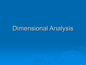 Dimensional Analysis - Mounds View School Websites
